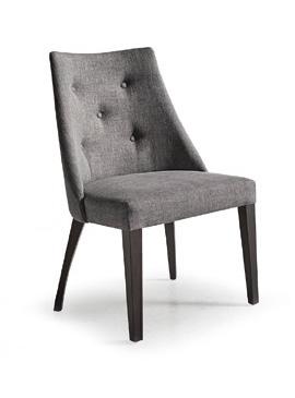 Silla tapizada florida capiton funcional mobiliario for Sillas modernas de madera tapizadas